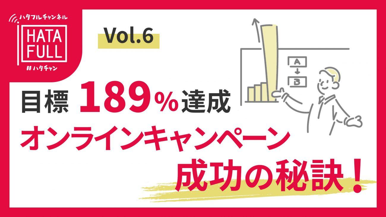 初開催のオンラインキャンペーンで目標189%達成した広告戦略の画像